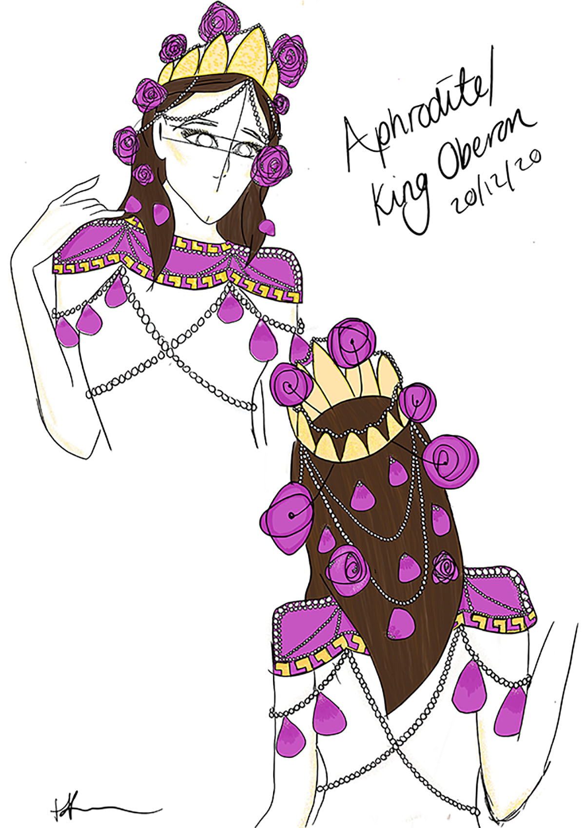Design for Aphrodite in my own adaption of Shakespeare's A Midsummer Night's Dream