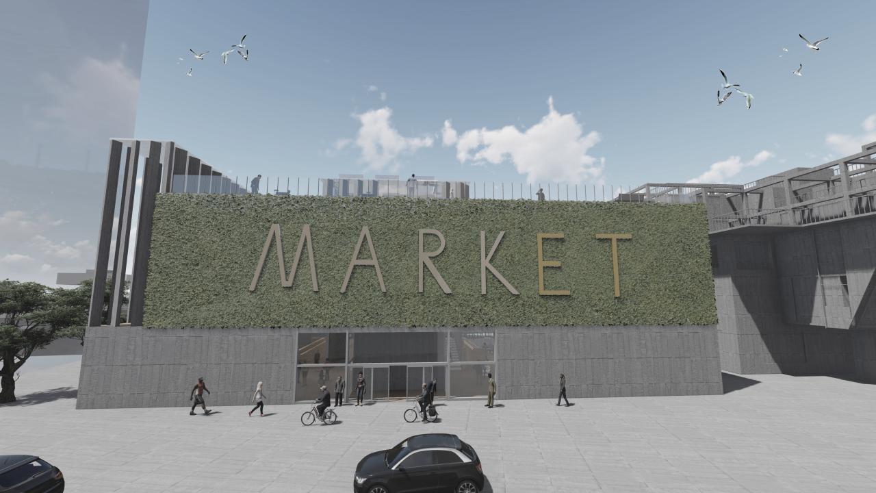 Market Hall Front Entrance (Road Entrance)
