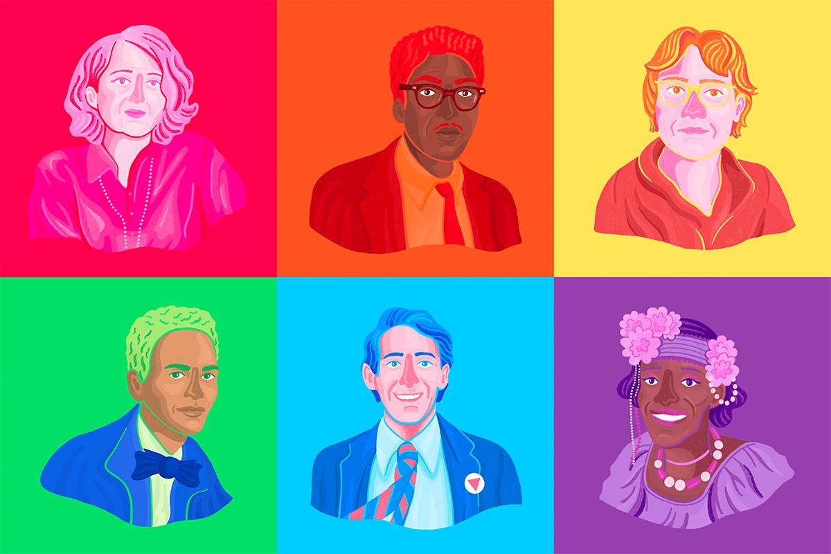 Portraits of LGBTQ+ Liberation Heroes